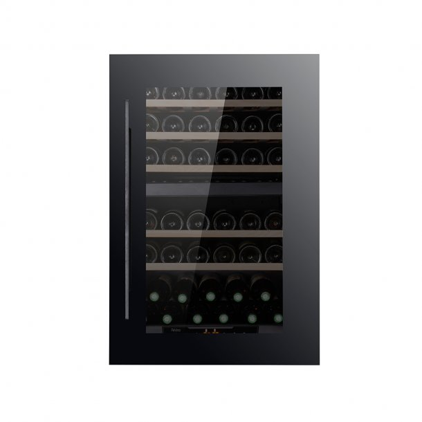Pevino 42 bottles - Dual zone - Black glass front - Integrated